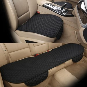 New Flax Car Seat Cover Cushion Universal Front Rear Back Seat Cover Car Chair Breathable Line Protector Mat Pad With Pocket