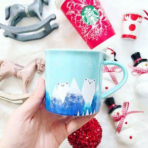 Out of print Starbucks Christmas winter Polar bear coffee cup 3D bear handle Ceramic Desktop mug 12OZ