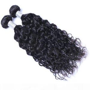 Großhandel Brazillian Peruanische indische Malaysische Jungfrau Remy Hair Natual Wave Brasilianische menschliche Haare Webart Bundles Erweiterungen Freies Verschiffen