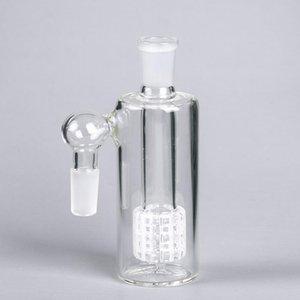 14mm 18mm Kül Catcher 45 Derece Duş Başlığı Percolator Bir Ortak Cam Kül Alıcı Kalın Cam Ashcatcher Su Sigara Borusu Için