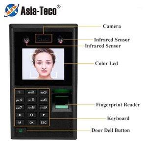 Système de contrôle d'accès de la porte du visage facial Système de contrôle de l'empreinte digitale biométrique Présence de mot de passe USB Serrures électriques X102-S1