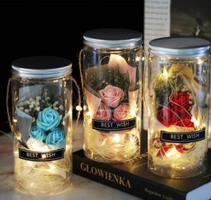 Soap Rose Led Soap Flower Plastic Bottles Wedding Artificial Flower Valentines Day Mothers bbyTDl warmslove