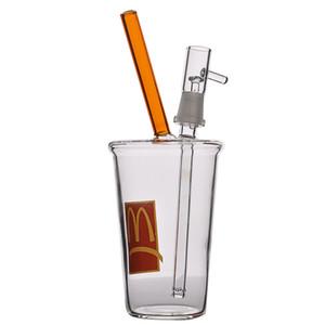 20cm tall beaker bong water pipes smoking accessories nail glass water bongs oil rigs dabber 14mm joint hookahs shisha
