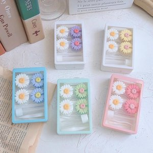 summer Fresh daisy contact lens case INS beauty lens case contact storage box can as gift