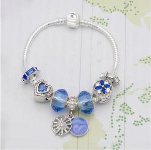 18CM Hotsale nuovo braccialetto di fascino 925 Castle Bracciali Torre Eiffel ciondolo perline braccialetto per il regalo gioielli fai da te accessori con box