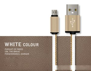 Leather Charging Cable Date Transmission Cord Micro USB V8 for Samsung Huawei Charger Cord With Buckle
