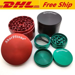 Sharpstone Herb Grinder Metal Zinc Alloy Tobacco Herbal Grinders 4 Layers 40mm 50mm 55mm 63mm 75mm for smoking accessories