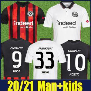 Eintracht Frankfurt Soccer Jersey 2020 2021 Die Adler Dost Sow Silva Kostic Football Jersey Kit enfants Hinteregger Da Costa Paciencia Shirt