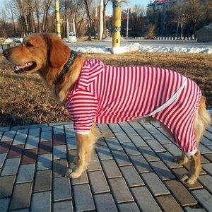 Big Dog Clothes Large Dog Pajamas Jumpsuit Cotton Sleepwear Corgi Samoyed Golden Retriever Husky Labrador Pet Clothing Outfit T200710
