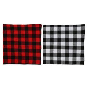 크리스마스 버팔로 베개 농가 홈 인테리어 빨간색과 검은 색 18 인치 베개 케이스 JK2010PH에 대한 쿠션 케이스 커버 격자 무늬가 던져 확인