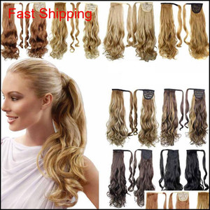 Ponytail Synthetic Hair Clip In Pony Tail Hair Ponytail Wig High Temperature False Hair Synthetic Wigs 15Styles Rra1894 X6Ua1 Di8K9 E2 Fhlie