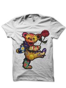 Camisa de deporte Grateful Dead White Bear T Sudadera con capucha