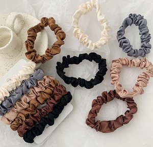 Scrunchie Hairbands Hair Tie Women For Hair Accessories Satin Scrunchies Stretch Ponytail Holder Handmade Gift Heand bbyKeH yh_pack