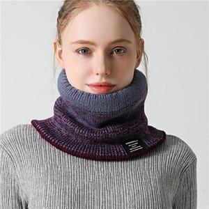 Sciarpe anello collo sciarpa donna calda all'aperto inverno spessa a maglia in cashmere ciclistico in pelliccia di pelliccia da uomo BUFANDA UNISEX SCILE COLLINA
