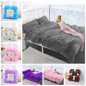 Plush Throw Cobertor Super Soft Macio Longo Shaggy Coberturas Fuzzy Pç Fur Faux Pele Quente Elegante Acolhedor Acolhedor Lance Sofás Cama 80 * 120 cm LXL1137Y D