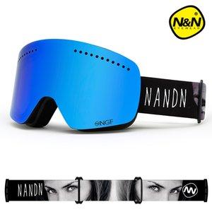 NANDN SNOW ski goggles double layers UV400 anti-fog big ski mask glasses skiing men women snowboard goggles Q0107