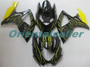 Body For SUZUKI GSX R600 GSX-R750 GSXR-600 GSXR600 06-07 GSX R750 GSXR 600 750 K6 GSXR750 2006 2007 Fairing kit New Factory yellow blac AD78