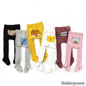 high quality Cartoon pantyhose boy girl animal print cotton child baby socks children long legs warm children's clothing accessories