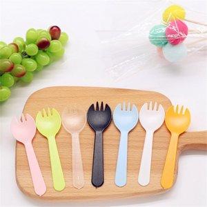 Portable fruits à usage unique en plastique fourchette épaissie Fourchette à dessert Cake Party cuillère Salade de légumes Accessoires de cuisine Vaisselle VT1831