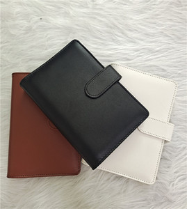 A6 Creative Macaron Color Leather Multi-function Diary Handbook Ring Binder Simple Portable Notebook Cover Case DHE2737
