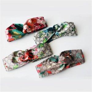 2020 New Silk sehr weiche Stirnband Damen Frauen Mode-Design Blüten-Blumen-Vogel-elastisches Hairband Mädchen Damen Headwraps