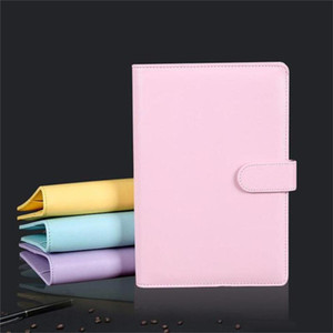 A5 A6 Empty Notebook Cover Loose Leaf Binder Refillable Notebook Cover Portable Personal Planner with Magnetic Buckle Closure