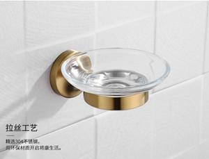 Paslanmaz Çelik Banyo Donanım Seti Sabun Kutusu Duş Bath House Konteyner Tutucu Sabunluk Banyo Aksesuarları In Fırçalı Altın bbyZhX