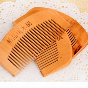 Wood Comb Beard Comb Customized Combs Laser Engraved Wooden Hair Comb for Men Grooming LX7467