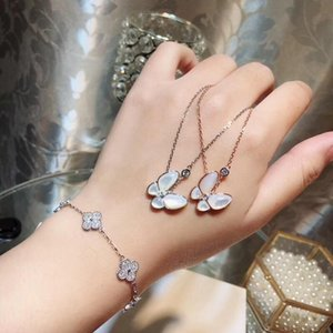 S925 Silver Pendant Necklace with nature shell Wedding Women jewelry with diamond and Butterfly earring necklace bracelet gift PS7017