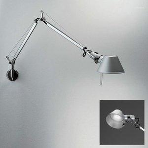 Studio Sala LED Silver Silver Parete di alluminio per ufficio Braccia gratuite E14 Lampada da parete Sconce Lettura Studio Studio Studio da studio Light1
