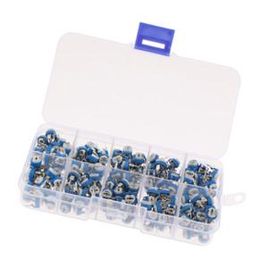 200 Pieces 10 Values Potentiometer Trimpot Variable Resistor Assortment Kit