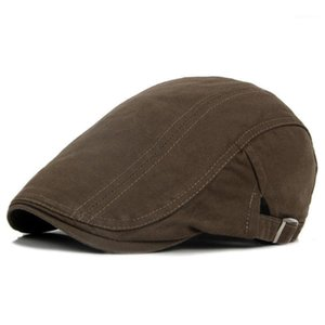 Classic Western Men Newsboy Caps Spring Retro Regolable Casual Edey Hat Summer Flat Brimer Bert Berret Caps Uomo Cappello da uomo1