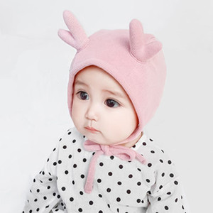 Daily Use Lovely Baby Cap Warmer Winter Spring Soft Cotton Ear Cap Fawn Princess Hat Cover Home Clothing