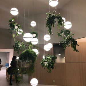 2020 Nordic bar plant chandelier flowers bedside bar creative simple glass ball walnut music dining lamps ems