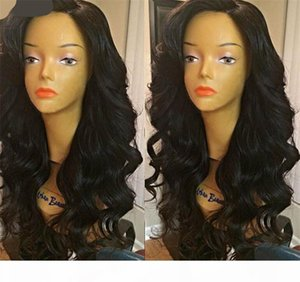 Brazilian Virgin Bouncy Curly Wig Glueless Full Lace Human Hair Wig For Black Women 150 Loose Wave with Baby Hair Lace Front Wig