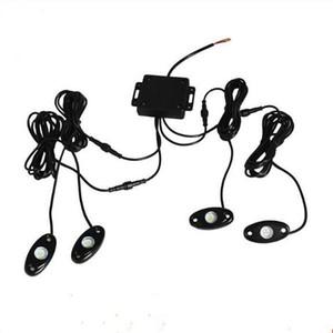 10 juegos de poder más elevado 9W 9 -30V Mini Bluetooth 4 Camión Kit vainas del Cree LED RGB luz de la roca por menos de Vehículo Todoterreno de bricolaje