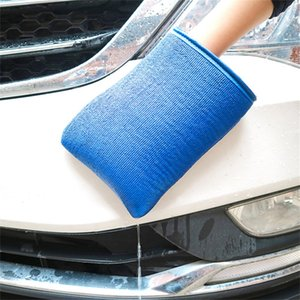 Free Shipping Care Clean Nanoscale Grinding Mud Washing Gloves Microfiber No Scratch Mitt Wash Decontamination Cloth for Car Polishing