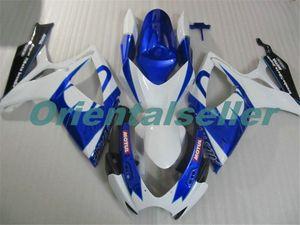 Body For SUZUKI GSX R600 GSX-R750 GSXR-600 GSXR600 06-07 GSX R750 GSXR 600 750 K6 GSXR750 2006 2007 Fairing kit New Factory blue white AD87