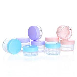 Plastikglases 15g Wachsbehälter Box leere Reise Jar Fall Kleiner kosmetischer Topf mit Deckel Gesichtscreme Lippenbalsam Containern Tragbare Jars GGE1719