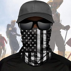 US Flag DHL Scarf Bandanas Independence Day Neck Masks Magic Motorcycle Bicycle Half Face Mask Headband Multi Bicycle Fishing Scarf Bandanas