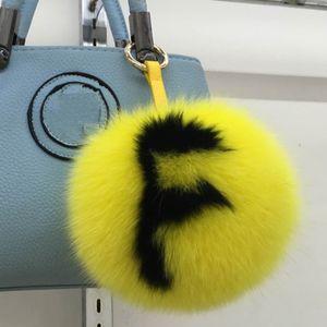 Özel 15 cm Büyük Kabarık Çanta Bugs Ponpon Anahtarlık Lüks Alfabe Fox Kürk Topu Pom Pom Anahtarlık Sırt Çantası Çanta Çanta Charms Hediye T200804