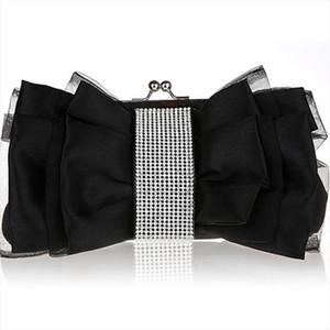 Winmax Fashion Bow Shape Rhinestone Women Evening Clutch Bags Bridal Flower Female handbags wedding party Hand bag