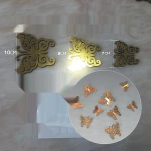 Laser oco borboleta cartão geladeira colar dupla face papel flash de ouro Wall paper stickeradhesive adesiva paperwall adesivo disposição VR