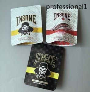 Nova Chegada Insano Bag 3.5g Cheiro Sacos de Prova Dr.Greenthumb Insane Premium Seco Herb Sorvete Bolo Mylar Zipper Bag