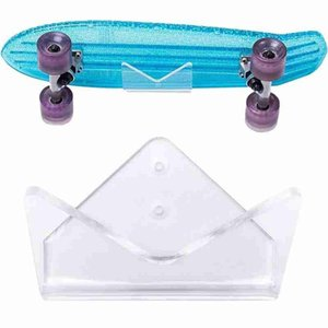 1Pcs Skateboard Bracket Acrylic Clear Longboard Deck Skate Scooter Stand Hardware Skateboard Wall Mount Rack Display Stand Holde