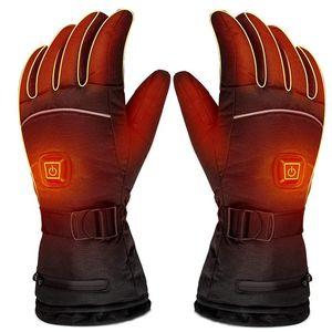 PARATAGO 2020 Открытые Теплые Отопительные перчаток Электрического обогрев зарядных лыжи Перчатка Snowboard Зимних Мужчины Женщина Водонепроницаемый P2101