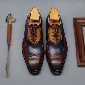 Sipriks moda genuína lether sapatos masculinos marrom vermelho marinho azul amarelo patina oxfords vestido sapatos itlaian forma formal smoking social 461