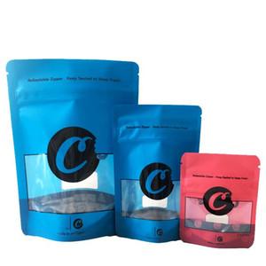 Cookies Mylar Sacs Californie SF 8ème Competible 420 Herbe Dry Herbe Emballage Bleu Red Blue Biscuits 3.5 Sacs de mylar en plastique à l'odeur resealable