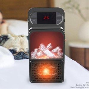 휴대용 화염 히터 3D 시뮬레이션 화염 히터 빠른 핫 미니 에어컨 팬 홈 데스크톱 가정용 220V 중국 (원점)
