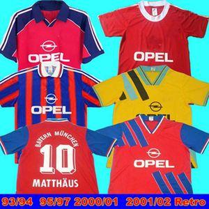93 94 94 97 97 Bayern Munich Retro Jersey 00 01 02 Bayern Retro Final Elber Zickle Effenberg Elber Pizarro Classic Mathaus Camisetas de fútbol
